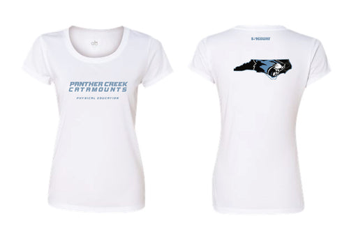 Panther Creek Softball PE DryFit Performance Tee - Women - White