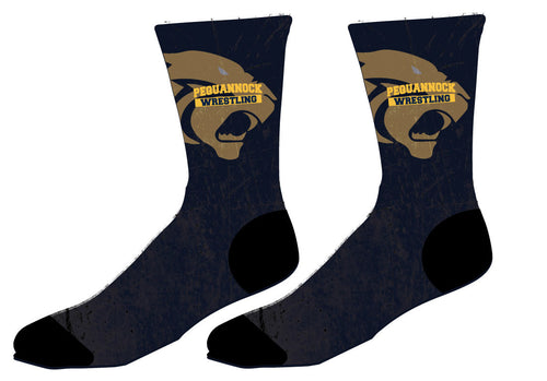 Pequannock Wrestling Sublimated Socks - 5KounT2018