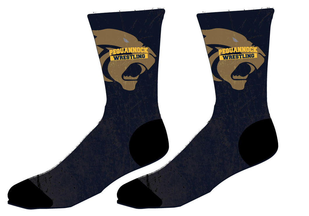 Pequannock Wrestling Sublimated Socks