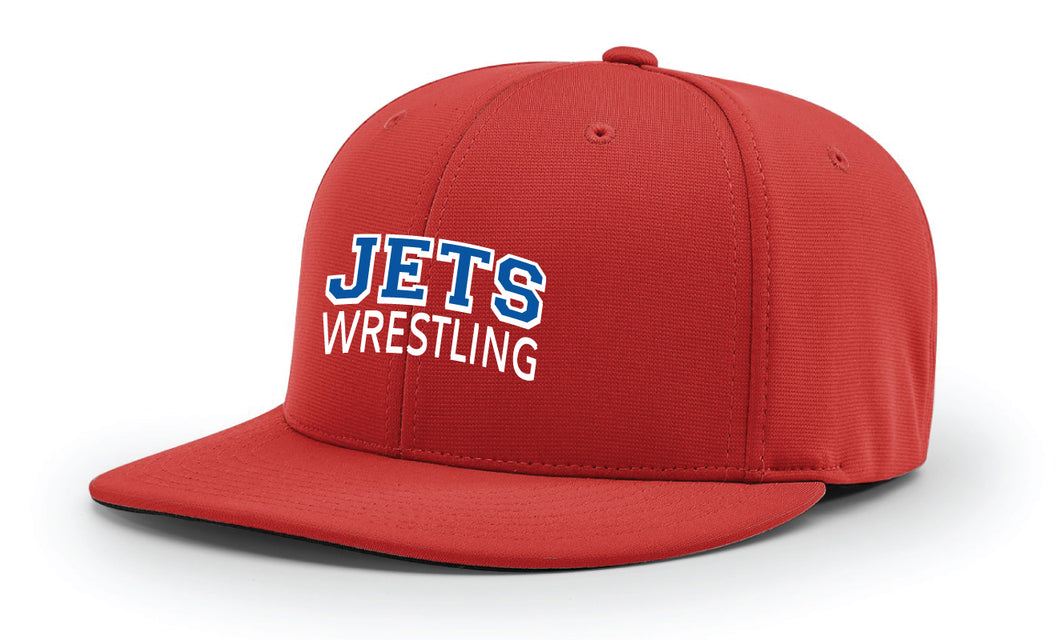 NC Jets Wrestling FlexFit Cap - Blue / Red