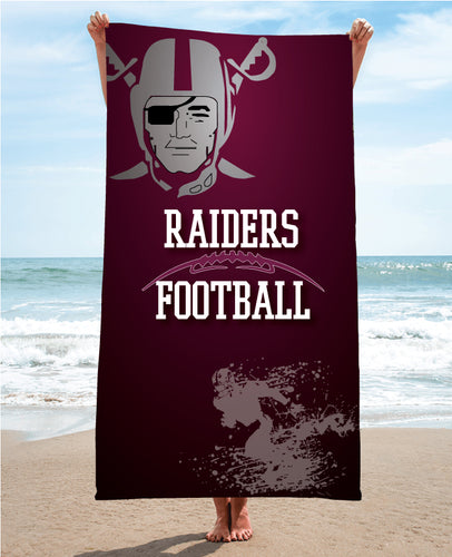 Raiders Football Sublimated Beach Towel - 5KounT2018