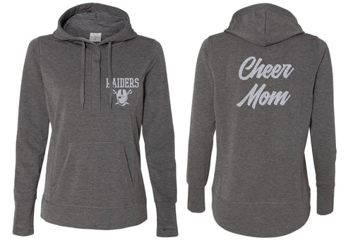 Raiders Cheer MOM Terry Snap Placket Hooded Pullover - 5KounT