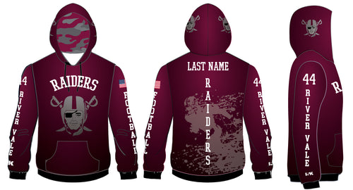Raiders Football Sublimated Hoodie - Maroon - 5KounT