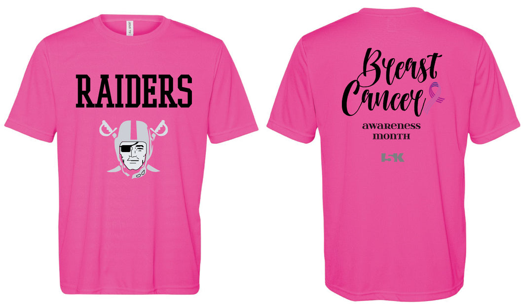 Raiders Breast Cancer Awareness DryFit Tee - Mens