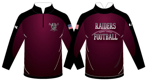 Raiders Football Sublimated Quarter Zip - 5KounT