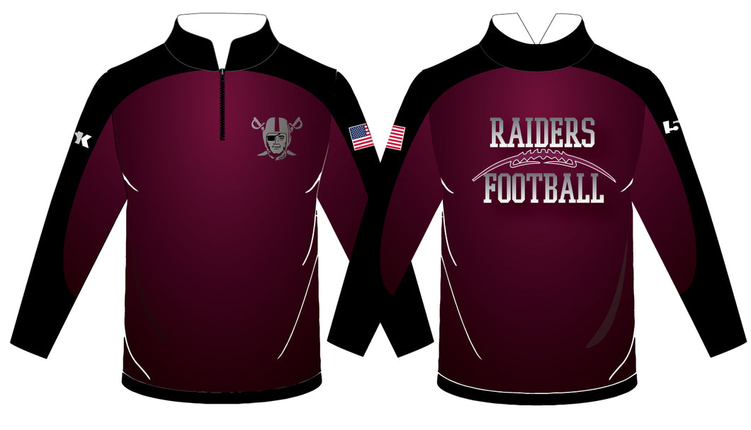 Raiders Football Sublimated Quarter Zip