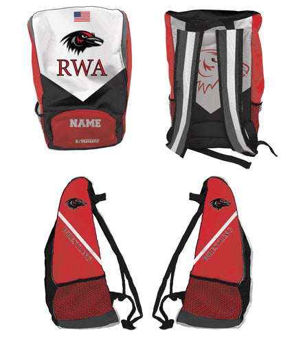 Robbinsville Wrestling Sublimated Backpack - Youth - 5KounT2018