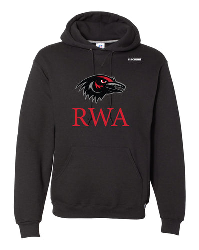 Robbinsville Wrestling Russell Athletic Cotton Hoodie - Black / Youth - 5KounT2018