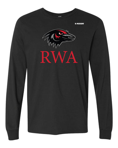 Robbinsville Wrestling Cotton Crew Long Sleeve Tee - Black / Youth - 5KounT2018