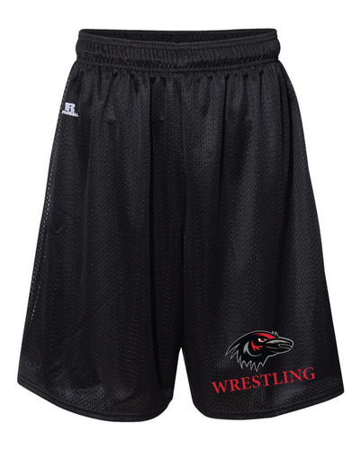 Robbinsville Wrestling Russell Athletic Tech Shorts - Black - 5KounT2018