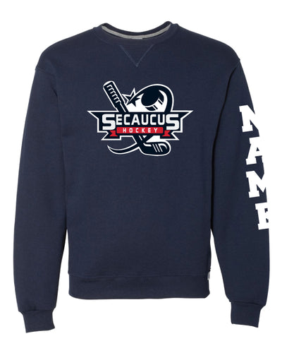 Secaucus Hockey Russell Athletic Cotton Crewneck - Navy - 5KounT2018