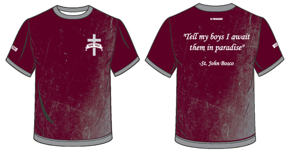 In loving memory of Sam Cali -  Sublimated Shirt- Maroon