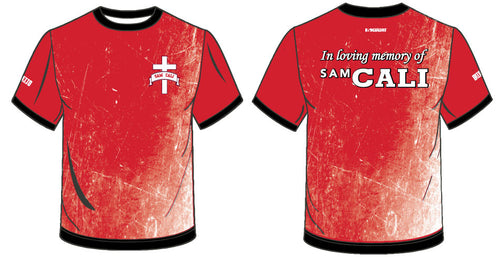 In loving memory of Sam Cali -  Sublimated Shirt-Red