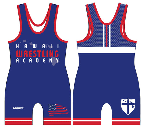 Hawaii Wrestling Academy Sublimated Singlet - Blue