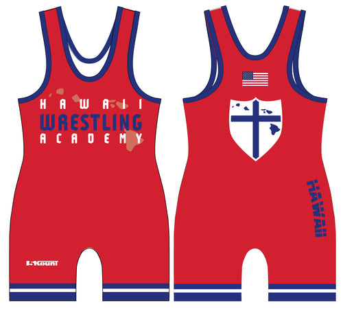 Hawaii Wrestling Academy Sublimated Singlet - Red