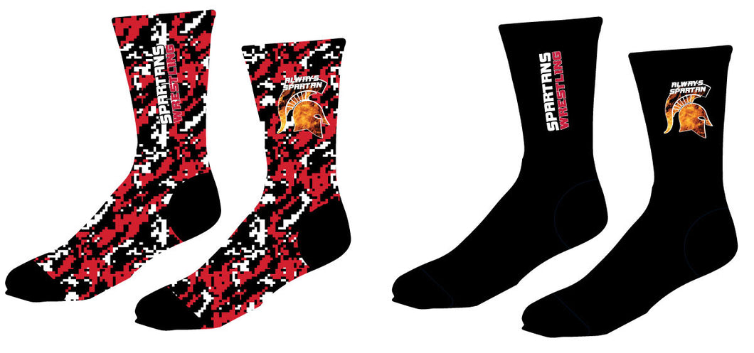 Spartans Wrestling Club - Sublimated Crew Socks