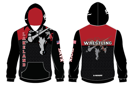 Lakeland Jr. Wrestling Sublimated Hoodie 2017 - 5KounT2018