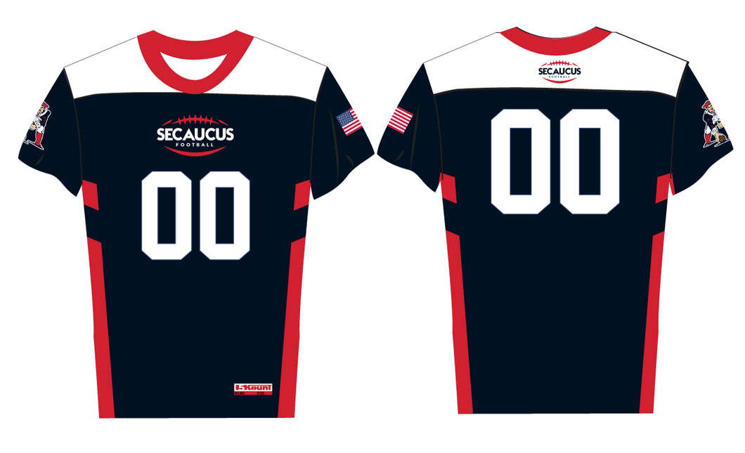 Secaucus Flag-Football Sublimated Fan Jersey - Navy