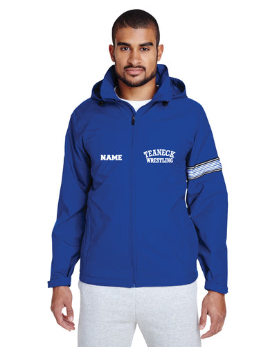 Teaneck Wrestling All-Season Hooded Men's Jacket - Royal - 5KounT2018