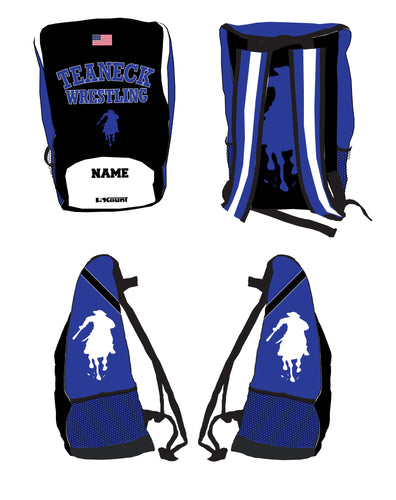 Teaneck Wrestling Sublimated Backpack - Black / Royal - 5KounT2018
