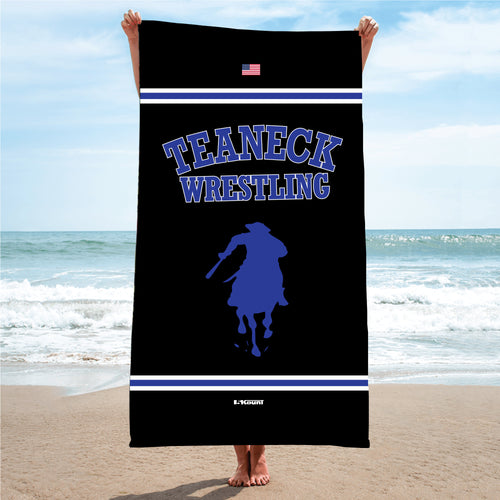 Teaneck Wrestling Sublimated Beach Towel - 5KounT2018