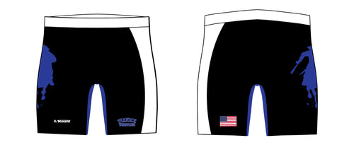 Teaneck Wrestling Sublimated Compression Shorts - Black / Royal - 5KounT2018