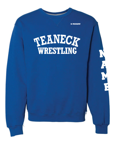 Teaneck Wrestling Russell Athletic Cotton Crewneck Sweatshirt - Royal - 5KounT2018
