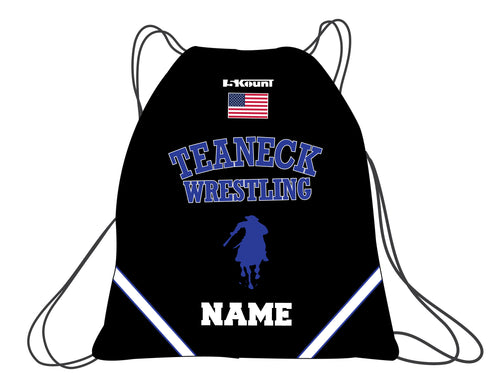 Teaneck Wrestling Sublimated Drawstring Bag - Black / Royal - 5KounT2018