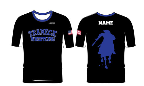 Teaneck Wrestling Sublimated Fight Shirt - Black / Royal - 5KounT2018