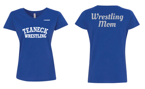 Teaneck Wrestling Cotton Wrestling Mom Crew Tee - Royal - 5KounT2018