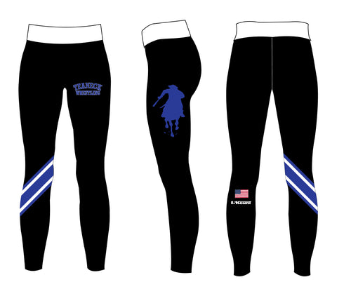 Teaneck Wrestling Sublimated Women's Leggings - Black / Royal - 5KounT2018