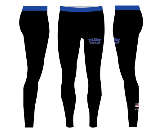 Teaneck Wrestling Sublimated Men's Leggings - Black / Royal - 5KounT2018