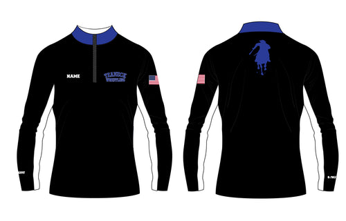 Teaneck Wrestling Sublimated Quarter Zip - Black / Royal - 5KounT2018