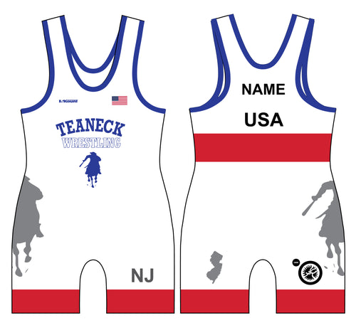 Teaneck Wrestling Sublimated Freestyle Men's Singlet 1 - 5KounT2018