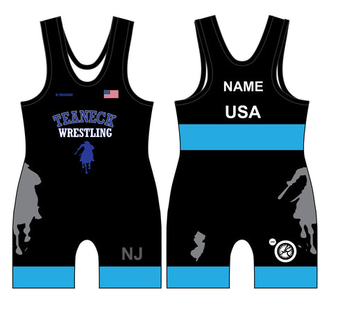 Teaneck Wrestling Sublimated Freestyle Men's Singlet 2 - 5KounT2018