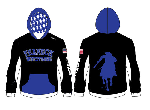 Teaneck Wrestling Sublimated Hoodie - Black / Royal - 5KounT2018