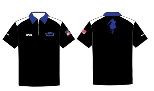 Teaneck Wrestling Sublimated Polo - Black / Royal - 5KounT2018