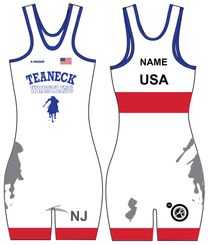 Teaneck Wrestling Sublimated Freestyle Women's Singlet 1 - 5KounT2018