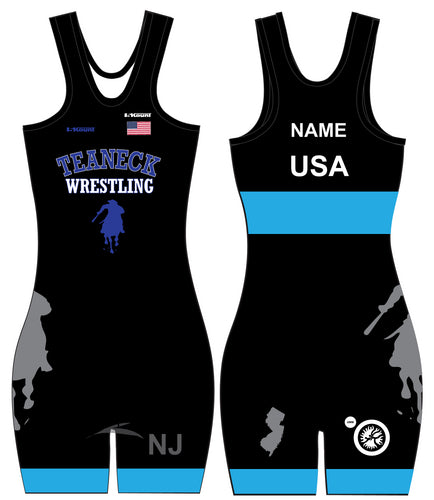 Teaneck Wrestling Sublimated Freestyle Women's Singlet 2 - 5KounT2018