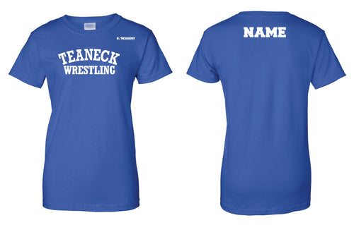 Teaneck Wrestling Cotton Women's Crew Tee - Royal - 5KounT2018