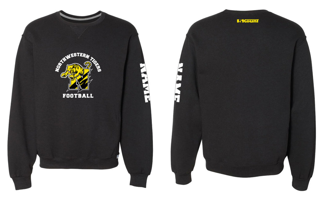Northwestern Tigers Russell Athletic Cotton Crewneck - Black - 5KounT2018
