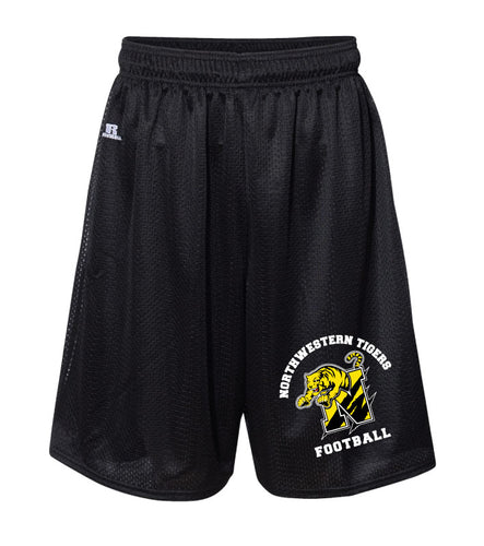 Northwestern Tigers Football Russell Athletic  Tech Shorts Black