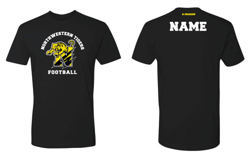 Northwestern Tigers Football Cotton Crew Tee - Black/Gray