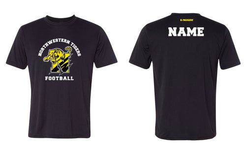 Northwestern Tigers Football Dryfit Performance Tee Black/Gray