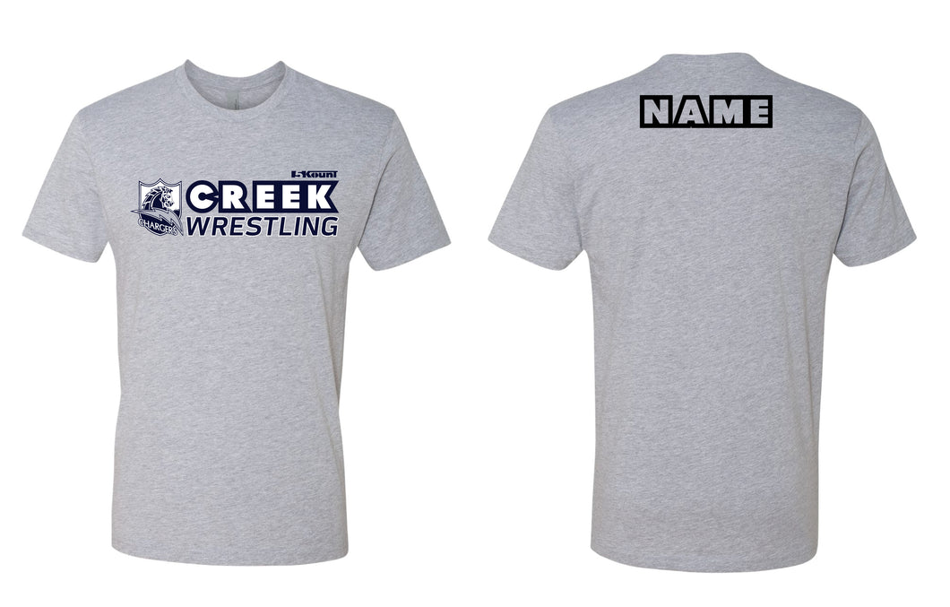 Creek Wrestling Cotton Crew Tee - Gray - 5KounT2018