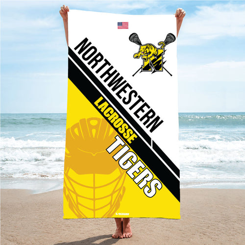 Northwestern Lacrosse Sublimated Beach Towel