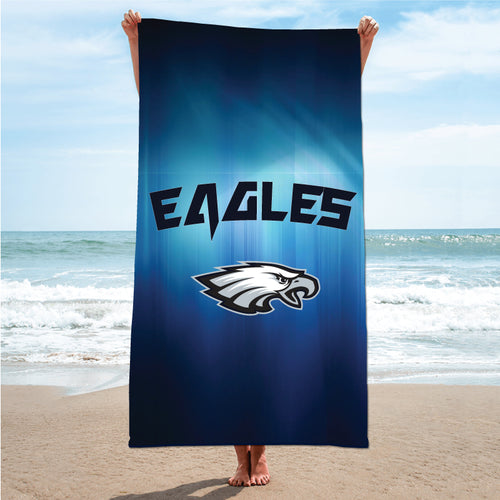 Wethersfield Football Sublimated Beach Towel
