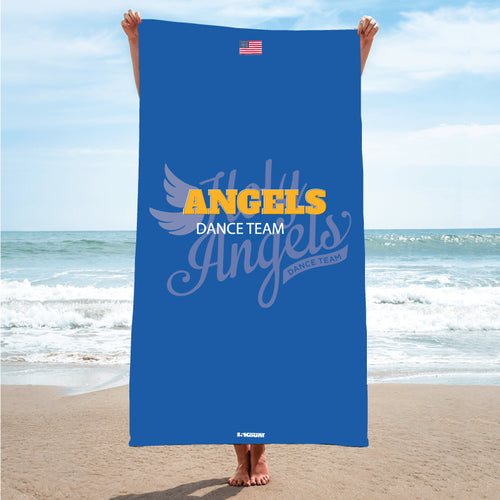 Angels Dance Team Wrestling Sublimated Beach Towel