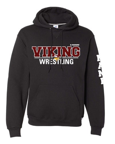 Vikings Wrestling Russell Athletic Cotton Hoodie - Black - 5KounT2018