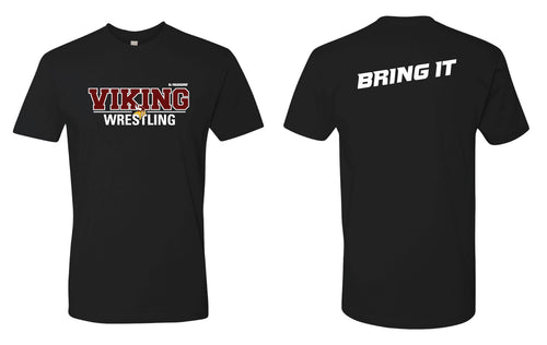 Vikings Wrestling Cotton Crew Tee - Black - 5KounT2018
